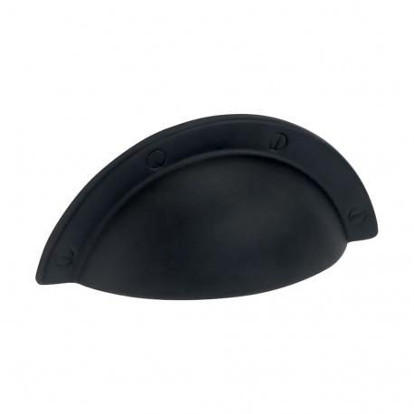 Poignée de meuble coquille noir mat NEWCASTLE