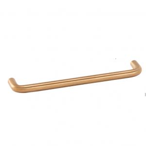 Poignée de meuble or satiné forme fil FILEA diamètre 10 mm