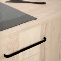 Poignée de meuble noir mat Mini Sense