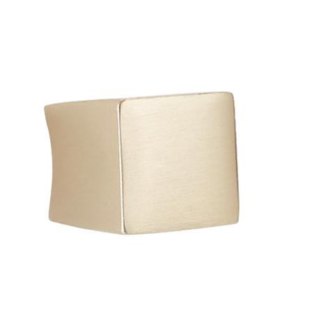 Bouton de meuble or satiné forme carré