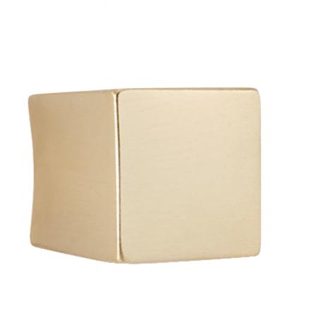 Bouton de meuble carré or satiné