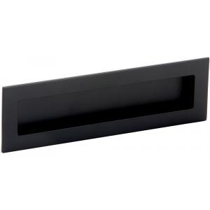 Poignée de meuble noire cuvette rectangle