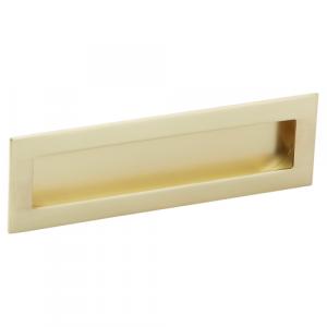 Poignée de meuble or mat cuvette rectangle