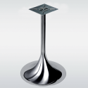 Pied de table central TULIPE rond, chromé ou inox, hauteur 730 ou 1100 mm