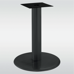 Pied de table central base ronde BECKET noir ou gris