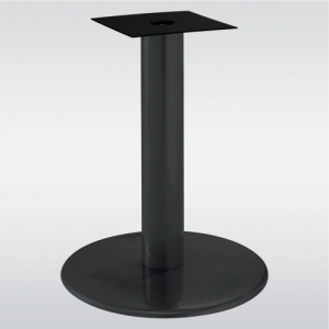 Pied de table central base ronde BECKET noir ou gris