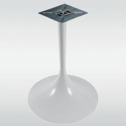 Pied de table central TULIPE rond, blanc, hauteur 730 mm