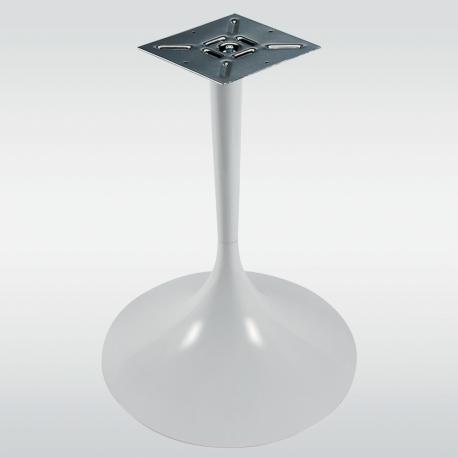 Pied de table central TULIPE rond, blanc, hauteur 740 mm