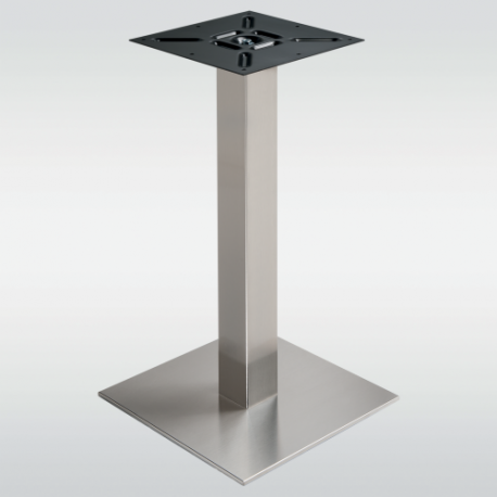 Pied de table carré inox