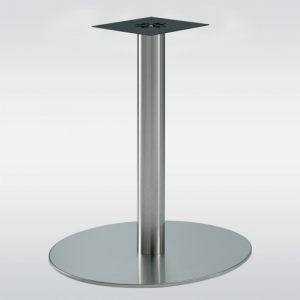 Pied de table central look inox FAIRWAY