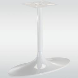 Pied de table central TULIPE ovale, blanc, hauteur 730 mm