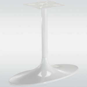 Pied de table central TULIPE ovale, blanc, hauteur 730 mm