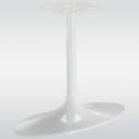 Pied de table central TULIPE ovale, blanc, hauteur 740 mm