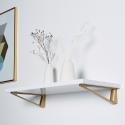 Support étagère bois triangle