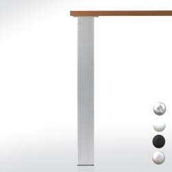 Pied de table carré 80 - hauteur 705 mm