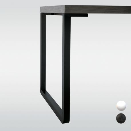 Pied de table en L, hauteur 710 ou 870 mm