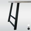 Pied de table incliné, hauteur 710 ou 870 mm