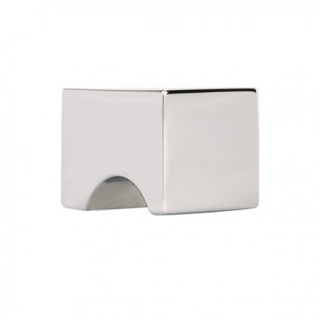 Bouton de meuble chromé encoche carré