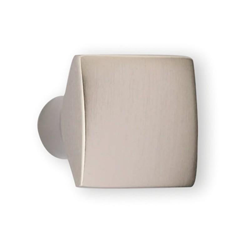 bouton de meuble carr en look inox carr. Black Bedroom Furniture Sets. Home Design Ideas