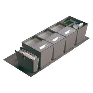 Poubelle cuisine pour tiroir de 1200 mm 3 bacs 48L