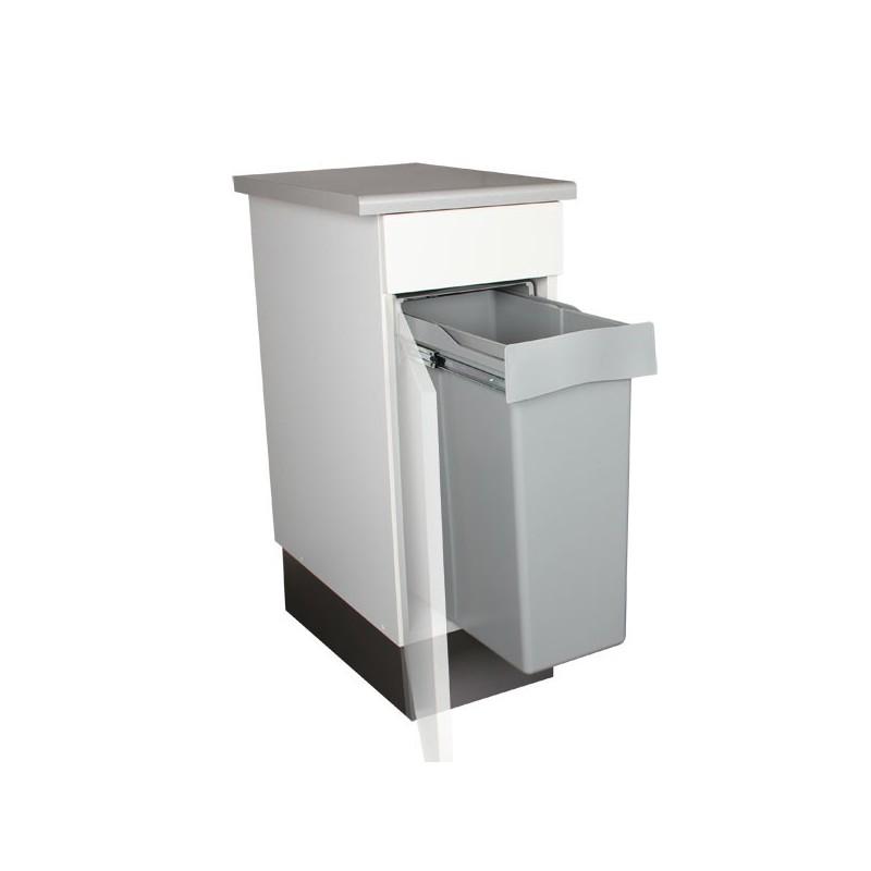 poubelle encastrable coulissante 1 bac 40 litres. Black Bedroom Furniture Sets. Home Design Ideas