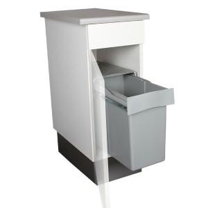 achat poubelle encastrable cuisine coulissante 30 l double. Black Bedroom Furniture Sets. Home Design Ideas