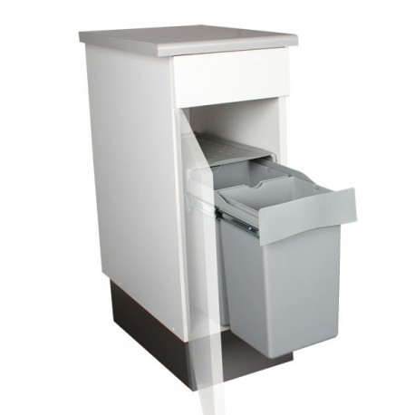 Poubelle encastrable coulissante 2 bacs 28 litres - Systeme poubelle coulissante ...