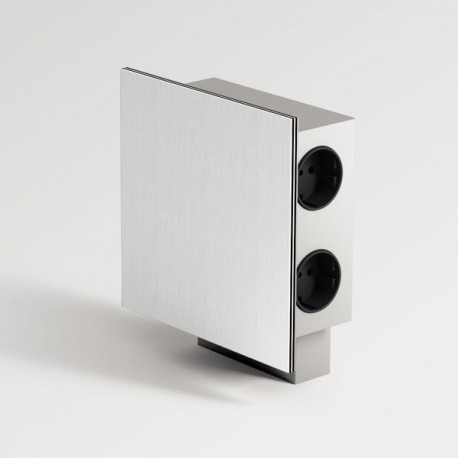 blocs 3 prises et 2 prises usb inox pour cuisine. Black Bedroom Furniture Sets. Home Design Ideas