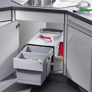 Poubelle de cuisine pivotante 1 bac ou 2 bacs de 12 - Poubelle integree meuble cuisine ...