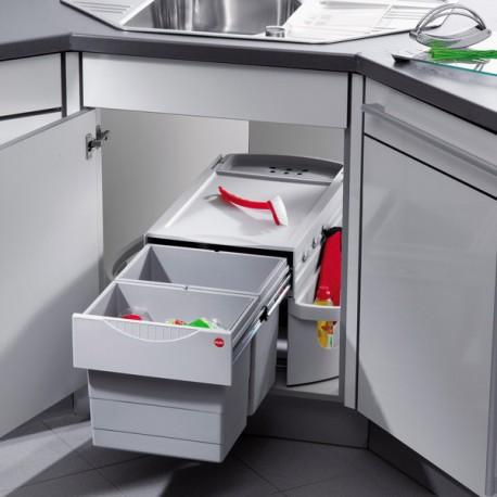 Poubelle cuisine pour meuble d 39 angle for Dimension meuble d angle cuisine