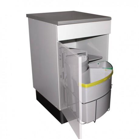poubelle tri s lectif pivotante 3 bacs 39 litres. Black Bedroom Furniture Sets. Home Design Ideas