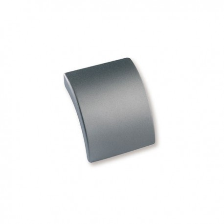 Bouton de meuble look aluminium Languette