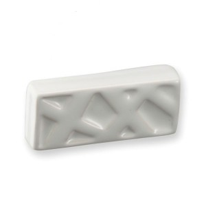 Poignée de meuble porcelaine forme rectangle