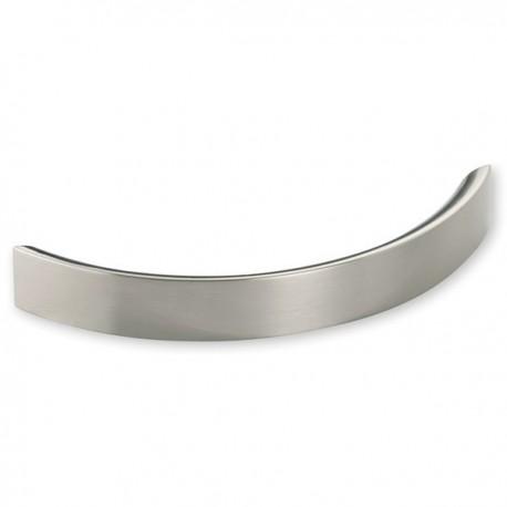 Poignée de meuble cuisine look inox forme courbe