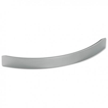 Poignée de meuble look aluminium forme courbe