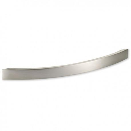 Poignée de meuble look inox forme courbe