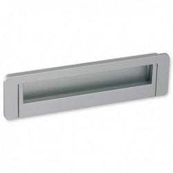 Poignée de meuble look aluminium Cuvette