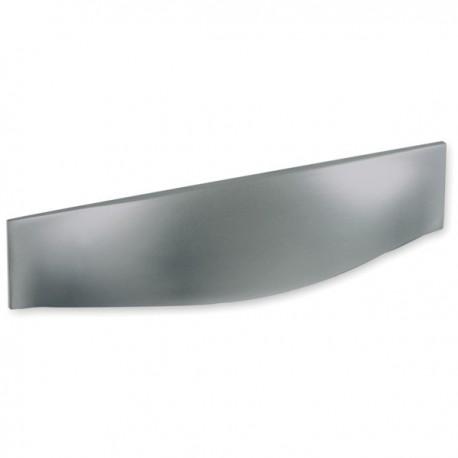 Poignée de meuble rectangle look inox forme bombée