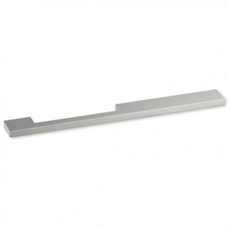 Poignée de meuble aluminium forme asymétrique