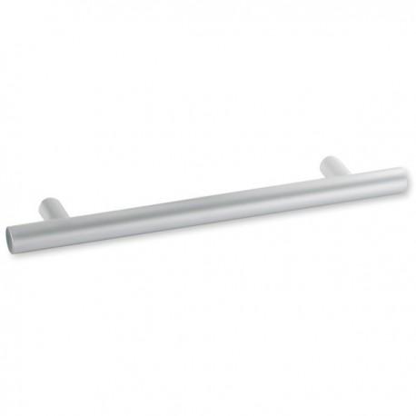 Poignée de meuble look aluminium bâton