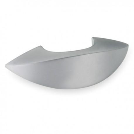 Poignée de meuble look aluminium forme Melon