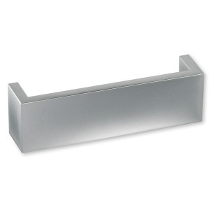 Poignée look aluminium carré