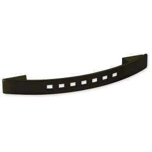 Poignée de meuble courbe AKURA métal noir