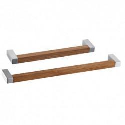 Poignée de meuble bois forme square
