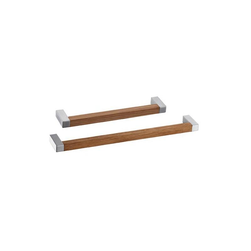 Poign e de meuble bois forme square - Poignee de porte cuisine equipee ...