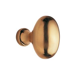 Bouton de meuble laiton ovale