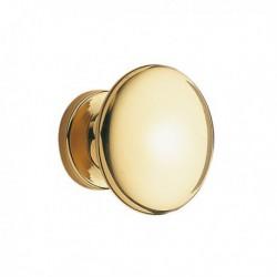 Bouton lentille LOUIS en laiton doré pour tiroir