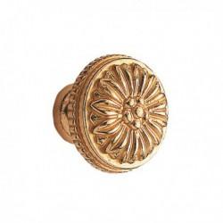 Bouton de meuble laiton poli Louis XVI