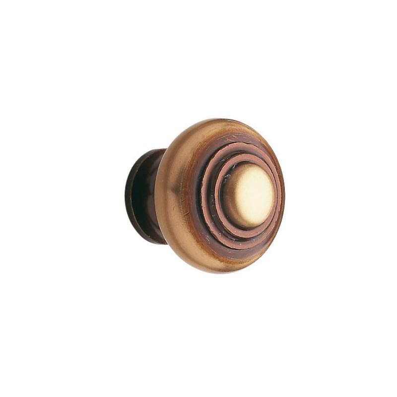 Bouton de meuble laiton bronz for Bouton poussoir meuble
