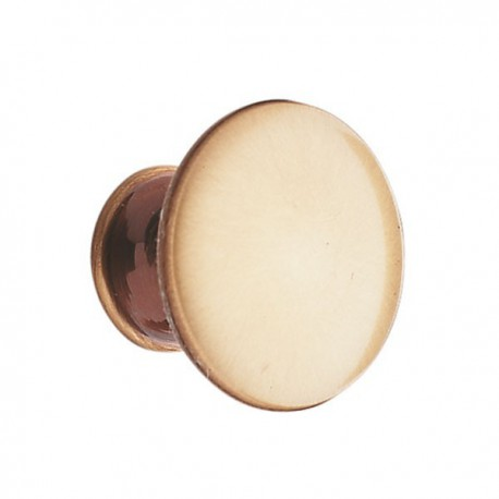 Bouton de meuble laiton lentille bronzé